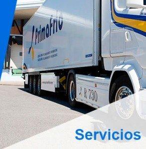 Primafrio - Servicio de transporte de mercancías por carretera