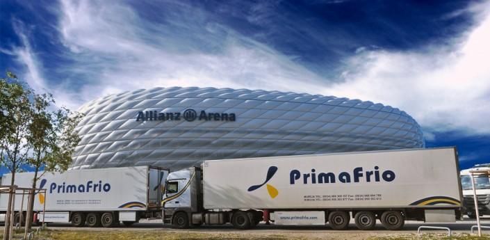Transporte frigorífico a Arena
