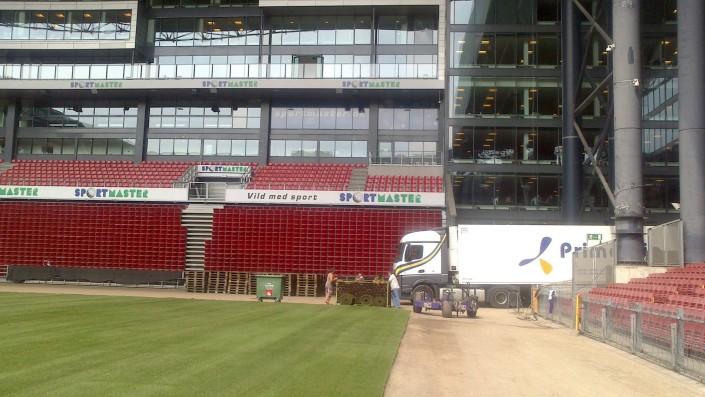 Camión Primafrio en Estadio Copenhague