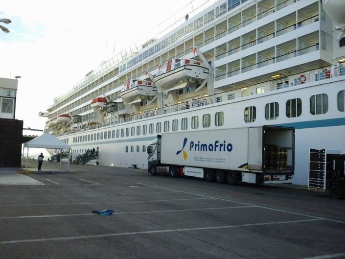 Transporte frigorífico a crucero